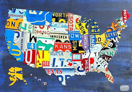 license plate map wall art small license plate maps x learn more license plate usa map license plate map wall art  on license plate map wall art with license plate map wall art license plate map mixed media license