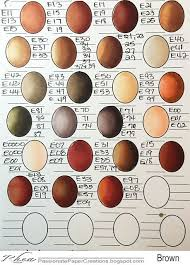 Copic Color Blending Chart Passionate Paper Creations Copic Color Combo Sheets Copic