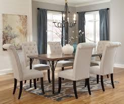7 piece rectangular dining room table set w wood top
