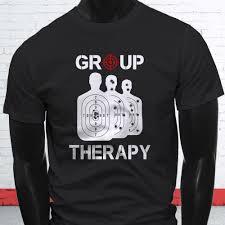 group therapy 2nd amendment target shooting mens black t shirt jacket croatia leather tshirt denim clothes camiseta t shirt funny t shirts for men make
