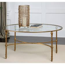 magnussen copia metal oval cocktail table hayneedle