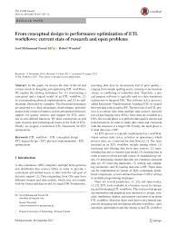 Etl Design Document Pdf From Conceptual Design To Performance Optimization Of