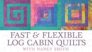Free Log Cabin Block Patterns: 7 Modern Designs & log cabin quilt class on craftsy Adamdwight.com