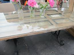 dining room table made old door cool too rusted