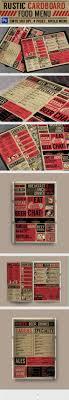 Rustic Menu Design Ideas Rustic Cardboard Bifold Menu Food Menus Print Templates
