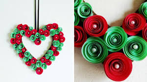diy paper flower wreath valentine heart wreath rolled paper rose wall hanging decoration