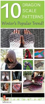 Dragon Scale Fingerless Gloves Pattern Free Simple Design Ideas