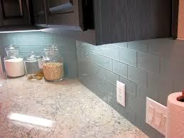 image of brick style glass backsplash kitchen