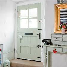 white front door inside. Allow The Colour Of Your Front Door To Flow Inside Entrance Hall. This Stable Is Finished In Duck Egg And Compliments Shade Side Table White U
