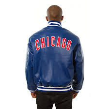 chicago cubs jh design leather jacket royal bigs to enlarge