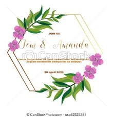 Wedding Invitation Template Greenery Wedding Invitation Template