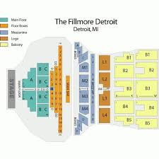 Fillmore Seating Chart Deadmau5 April 15 Tickets Detroit The Fillmore Detroit