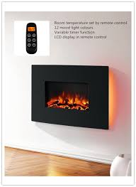 endeavour fires egton wall mounted electric fire black curved glass 6951573464093