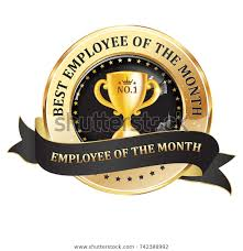Employee Of The Month Award Best Employee Month Work Recognition Award Stock Vector