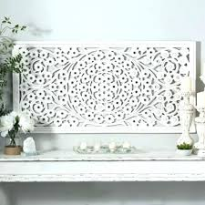 wall decor dazzling design metal whitewash creative designs articles with tag gorgeous whitewashed carved round art