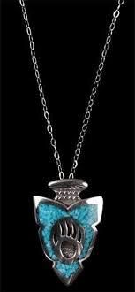 p496 bear paw pendant sterling silver