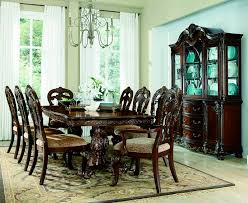 ornate dining room table and chairs. he-2243-114 7 pc deryn park collection cherry finish wood double pedestal dining ornate room table and chairs s