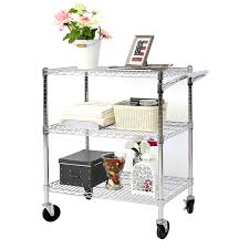 3 tier rolling kitchen cart office steel wire storage shelf heavy duty chrome 1 of 12only 0 available see more