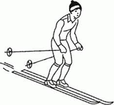Ознакомление и разучивание техники одношажного хода Спуск в высокой стойке