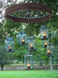 outdoor candle chandelier photo 1 of 5 blue mason jars candle chandelier with cloth home decor