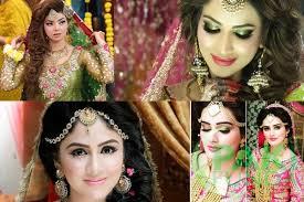 see latest stani mehndi bridal makeup ideas