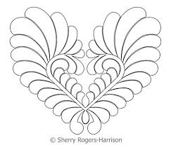 Goosebumps Feather Heart | Digital Quilting Designs & Digital Quilting Design Goosebumps Feather Heart by Sherry Rogers-Harrison. Adamdwight.com