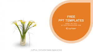 Ppt Flowers Flowers In Vase Nature Powerpoint Templates