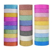 3-Meter Washi Tape <b>10 Pcs Glitter Washi Tape</b> craft glitter ribbons ...