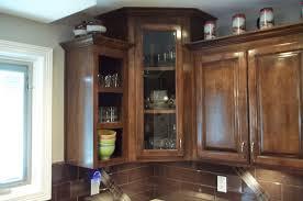upper corner kitchen cabinet luxury kitchen corner wall cabinet with glass doors