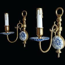 chandeliers antique chandelier porcelain flowers rare pair antique delft wall sconces lamps holland blue white
