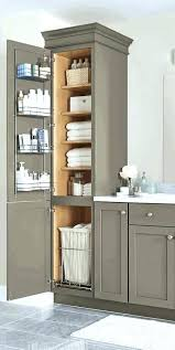 bathroom vanity and linen cabinet. White Bathroom Linen Cabinet Vanity Tall Classic Lighting Beside And
