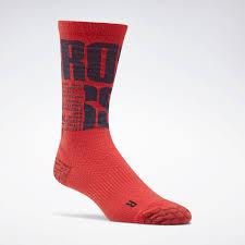 Reebok Crossfit Crew Socks Red Reebok Mlt
