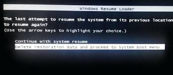 continue with system resume astounding stuck on windows resume loader with  additional simple resume with stuck .