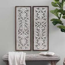 carved wood wall art wood panel wall