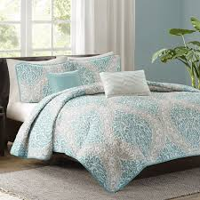 Senna Aqua Quilted Coverlet Set by Intelligent Design | FREE SHIPPING & Senna Aqua Quilted Coverlet Set by Intelligent Design photo 1 ... Adamdwight.com