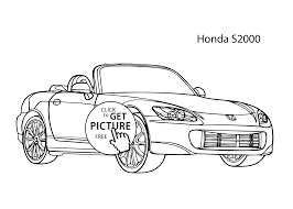 Small Picture Super car Honda S2000 coloring page cool car printable free