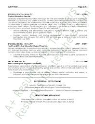 education in resumes physical education resume sample