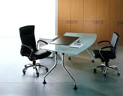 glass office table. Executive Glass Office Desk Furniture Modern With Stainless Steel Legs Chairs Ikea Dubai Table