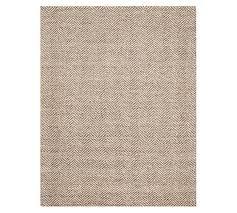 chevron wool jute rug mocha