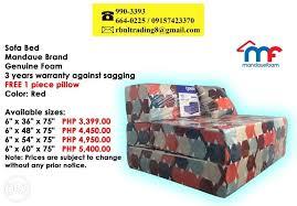 sofa bed sofa mattress mandaue foam rbnl trading
