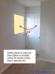 residential code requirement for safety glass near doors