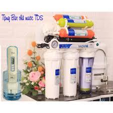 Máy lọc nước giá rẻ uống trực tiếp nazaro 8 cấp (tặng bút thử nước TDS)