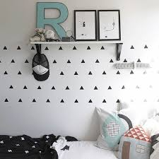baby boy room triangles kids