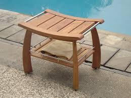 24 w x 17 d x 18 h original teak shower bench with