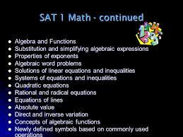 13 sat 1 math continued algebra