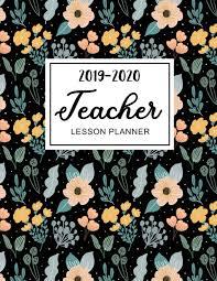 Teaching Floral Design Teacher Lesson Planner 2019 2020 Floral Watercolor