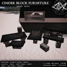 cinder block furniture. -LEXI- Cinder Block Furniture ~ Black
