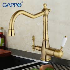 GAPPO water filter faucet torneira kitchen faucet bronze antique