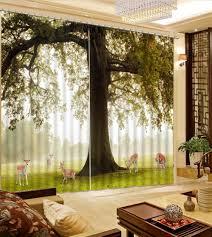 3d Vorhänge Baum Landschaft High End Schlafzimmer Fenster Für