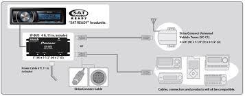 cd sb10 sirius bus interface for pioneer sat radio ready sirius connect chart